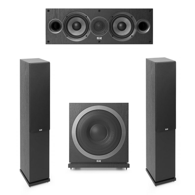Elac 3.1 System with 2 F5.2 Floorstanding Speakers, 1 C5.2 Center Speaker, 1 Elac SUB3010 Subwoofer