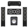 Elac 3.1 System with 2 Debut F5 Floorstanding Speakers, 1 Debut C5 Center Speaker, 1 Premier Acoustic PA-150 Subwoofer, 1 Denon AVR-X1300W A/V Receiver