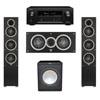 Elac 3.1 System with 2 Debut F5 Floorstanding Speakers, 1 Debut C5 Center Speaker, 1 Premier Acoustic PA-150 Subwoofer, 1 Denon AVR-X2300W A/V Receiver