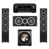 Elac 3.1 System with 2 Debut F5 Floorstanding Speakers, 1 Debut C5 Center Speaker, 1 BIC/Acoustech Platinum Series PL-200 Subwoofer, 1 Denon AVR-X2300W A/V Receiver