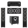 Elac 3.1 System with 2 Debut F5 Floorstanding Speakers, 1 Debut C5 Center Speaker, 1 Debut S10 Subwoofer, 1 Denon AVR-X1300W A/V Receiver