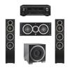 Elac 3.1 System with 2 Debut F5 Floorstanding Speakers, 1 Debut C5 Center Speaker, 1 Debut S10EQ Subwoofer, 1 Denon AVR-X1300W A/V Receiver