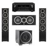 Elac 3.1 System with 2 Debut F5 Floorstanding Speakers, 1 Debut C5 Center Speaker, 1 Debut S10EQ Subwoofer, 1 Denon AVR-X2300W A/V Receiver