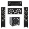 Elac 3.1 System with 2 Debut F5 Floorstanding Speakers, 1 Debut C5 Center Speaker, 1 Debut S12EQ Subwoofer, 1 Denon AVR-X1300W A/V Receiver