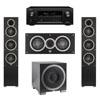 Elac 3.1 System with 2 Debut F5 Floorstanding Speakers, 1 Debut C5 Center Speaker, 1 Debut S12EQ Subwoofer, 1 Denon AVR-X2300W A/V Receiver