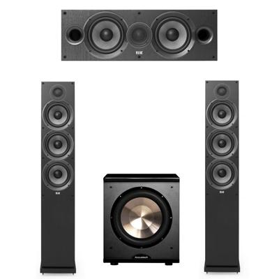 Elac 3.1 System with 2 F6.2 Floorstanding Speakers, 1 C6.2 Center Speaker, 1 BIC/Acoustech Platinum Series PL-200 Subwoofer