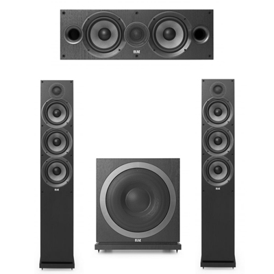 Elac 3.1 System with 2 F6.2 Floorstanding Speakers, 1 C6.2 Center Speaker, 1 Elac SUB3010 Subwoofer