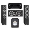 Elac 3.1 System with 2 Debut F6 Floorstanding Speakers, 1 Debut C5 Center Speaker, 1 Premier Acoustic PA-150 Subwoofer, 1 Denon AVR-X2300W A/V Receiver