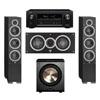 Elac 3.1 System with 2 Debut F6 Floorstanding Speakers, 1 Debut C5 Center Speaker, 1 BIC/Acoustech Platinum Series PL-200 Subwoofer, 1 Denon AVR-X2300W A/V Receiverq