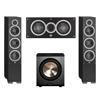 Elac 3.1 System with 2 Debut F6 Floorstanding Speakers, 1 Debut C5 Center Speaker, 1 BIC/Acoustech Platinum Series PL-200 Subwoofer