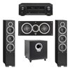 Elac 3.1 System with 2 Debut F6 Floorstanding Speakers, 1 Debut C5 Center Speaker, 1 Debut S10 Subwoofer, 1 Denon AVR-X1300W A/V Receiver