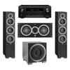 Elac 3.1 System with 2 Debut F6 Floorstanding Speakers, 1 Debut C5 Center Speaker, 1 Debut S10EQ Subwoofer, 1 Denon AVR-X2300W A/V Receiver