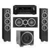 Elac 3.1 System with 2 Debut F6 Floorstanding Speakers, 1 Debut C5 Center Speaker, 1 Debut S12EQ Subwoofer, 1 Denon AVR-X2300W A/V Receiver