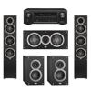 Elac 5.0 System with 2 Debut F5 Floorstanding Speakers, 1 Debut C5 Center Speaker, 2 Debut B4 Bookshelf Speakers, 1 Denon AVR-X1300W A/V Receiver