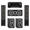 Elac 5.0 System with 2 Debut F5 Floorstanding Speakers, 1 Debut C5 Center Speaker, 2 Debut B4 Bookshelf Speakers, 1 Denon AVR-X2300W A/V Receiver