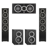 Elac 5.0 System with 2 Debut F5 Floorstanding Speakers, 1 Debut C5 Center Speaker, 2 Debut B4 Bookshelf Speakers