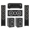 Elac 5.0 System with 2 Debut F5 Floorstanding Speakers, 1 Debut C5 Center Speaker, 2 Debut B5 Bookshelf Speakers, 1 Denon AVR-X1300W A/V Receiver