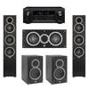 Elac 5.0 System with 2 Debut F5 Floorstanding Speakers, 1 Debut C5 Center Speaker, 2 Debut B5 Bookshelf Speakers, 1 Denon AVR-X2300W A/V Receiver