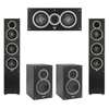Elac 5.0 System with 2 Debut F5 Floorstanding Speakers, 1 Debut C5 Center Speaker, 2 Debut B5 Bookshelf Speakers