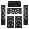 Elac 5.0 System with 2 Debut F5 Floorstanding Speakers, 1 Debut C5 Center Speaker, 2 Debut B6 Bookshelf Speakers, 1 Denon AVR-X2300W A/V Receiver