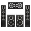 Elac 5.0 System with 2 Debut F5 Floorstanding Speakers, 1 Debut C5 Center Speaker, 2 Debut B6 Bookshelf Speakers