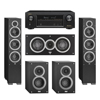 Elac 5.0 System with 2 Debut F6 Floorstanding Speakers, 1 Debut C5 Center Speaker, 2 Debut B4 Bookshelf Speakers, 1 Denon AVR-X1300W A/V Receiver