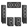 Elac 5.0 System with 2 Debut F6 Floorstanding Speakers, 1 Debut C5 Center Speaker, 2 Debut B4 Bookshelf Speakers