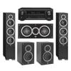 Elac 5.0 System with 2 Debut F6 Floorstanding Speakers, 1 Debut C5 Center Speaker, 2 Debut B5 Bookshelf Speakers, 1 Denon AVR-X1300W A/V Receiver