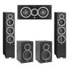 Elac 5.0 System with 2 Debut F6 Floorstanding Speakers, 1 Debut C5 Center Speaker, 2 Debut B5 Bookshelf Speakers