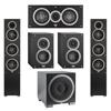 Elac 5.1 System with 2 Debut F5 Floorstanding Speakers, 1 Debut C5 Center Speaker, 2 Debut B4 Bookshelf Speakers, 1 Debut S10EQ Subwoofer