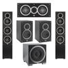 Elac 5.1 System with 2 Debut F5 Floorstanding Speakers, 1 Debut C5 Center Speaker, 2 Debut B5 Bookshelf Speakers, 1 Debut S10EQ Subwoofer