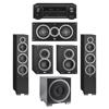 Elac 5.1 System with 2 Debut F6 Floorstanding Speakers, 1 Debut C5 Center Speaker, 2 Debut B4 Bookshelf Speakers, 1 Debut S10EQ Subwoofer, 1 Denon AVR-X1300W A/V Receiver