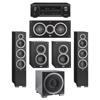 Elac 5.1 System with 2 Debut F6 Floorstanding Speakers, 1 Debut C5 Center Speaker, 2 Debut B4 Bookshelf Speakers, 1 Debut S12EQ Subwoofer, 1 Denon AVR-X1300W A/V Receiver