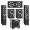 Elac 5.1 System with 2 Debut F6 Floorstanding Speakers, 1 Debut C5 Center Speaker, 2 Debut B4 Bookshelf Speakers, 1 Debut S12EQ Subwoofer