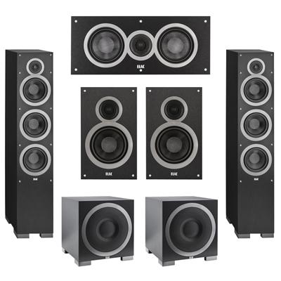 Elac 52 System With 2 Debut F6 Floorstanding Speakers 1 C5 Center Speaker B6 Bookshelf S10EQ Subwoofer
