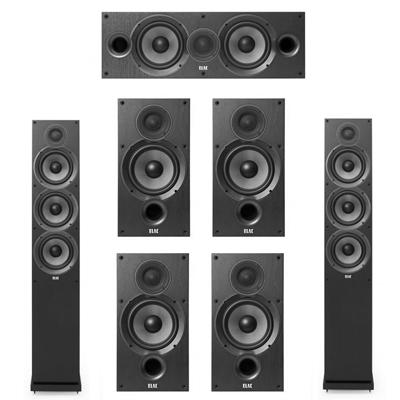 Elac 7.0 System with 2 F6.2 Floorstanding Speakers, 1 C6.2 Center Speaker, 4 B6.2 Bookshelf Speakers