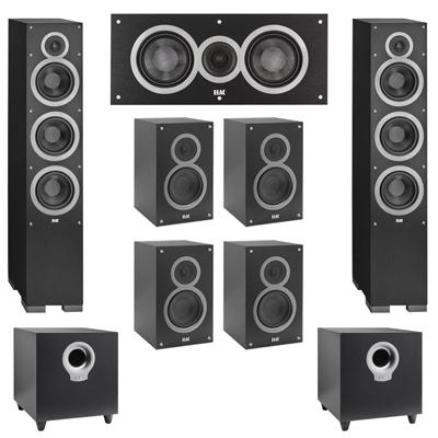 Elac 72 System With 2 Debut F6 Floorstanding Speakers 1 C5 Center Speaker 4 B5 Bookshelf S10 Subwoofer