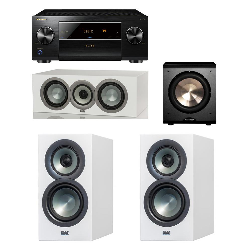 ELAC Uni Fi Slim White 31 System With 2 BS U5 Bookshelf Speakers