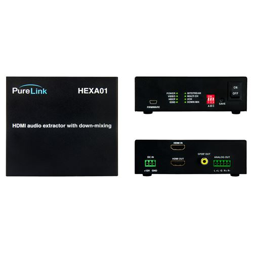 Pure Link HEXA01 HDMI Audio Extractor with PCM Multi Channel to 2 Channel