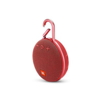 JBL Clip 3 Red Portable Bluetooth Speaker