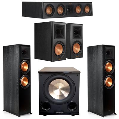 Klipsch 5.1 Ebony System 2 RP-8000F,1 RP-404C,2 RP-600M,FREE PL-200II Sub