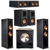 Klipsch 5.1 Ebony System 2 RP-8000F,1 RP-404C,2 RP-500M,FREE PL-200II Sub