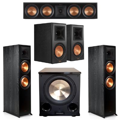 Klipsch 5.1 Ebony System 2 RP-8000F,1 RP-504C,2 RP-600M,FREE PL-200II Sub