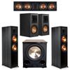 Klipsch 5.1 Ebony System 2 RP-8000F,1 RP-504C,2 RP-500M,FREE PL-200II Sub
