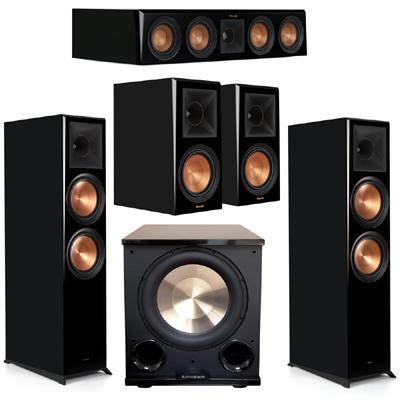 Klipsch 5.1 Piano Black System 2 RP-8000F,1 RP-404C,2 RP-600M,FREE PL-200II Sub