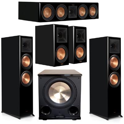 Klipsch 5.1 Piano Black System 2 RP-8000F,1 RP-504C,2 RP-600M,FREE PL-200II Sub