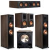 Klipsch 5.1 Walnut System 2 RP-8000F,1 RP-404C,2 RP-600M,FREE PL-200II Sub