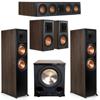 Klipsch 5.1 Walnut System 2 RP-8000F,1 RP-404C,2 RP-500M,FREE PL-200II Sub