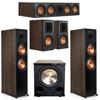 Klipsch 5.1 Walnut System 2 RP-8000F,1 RP-504C,2 RP-500M,FREE PL-200II Sub