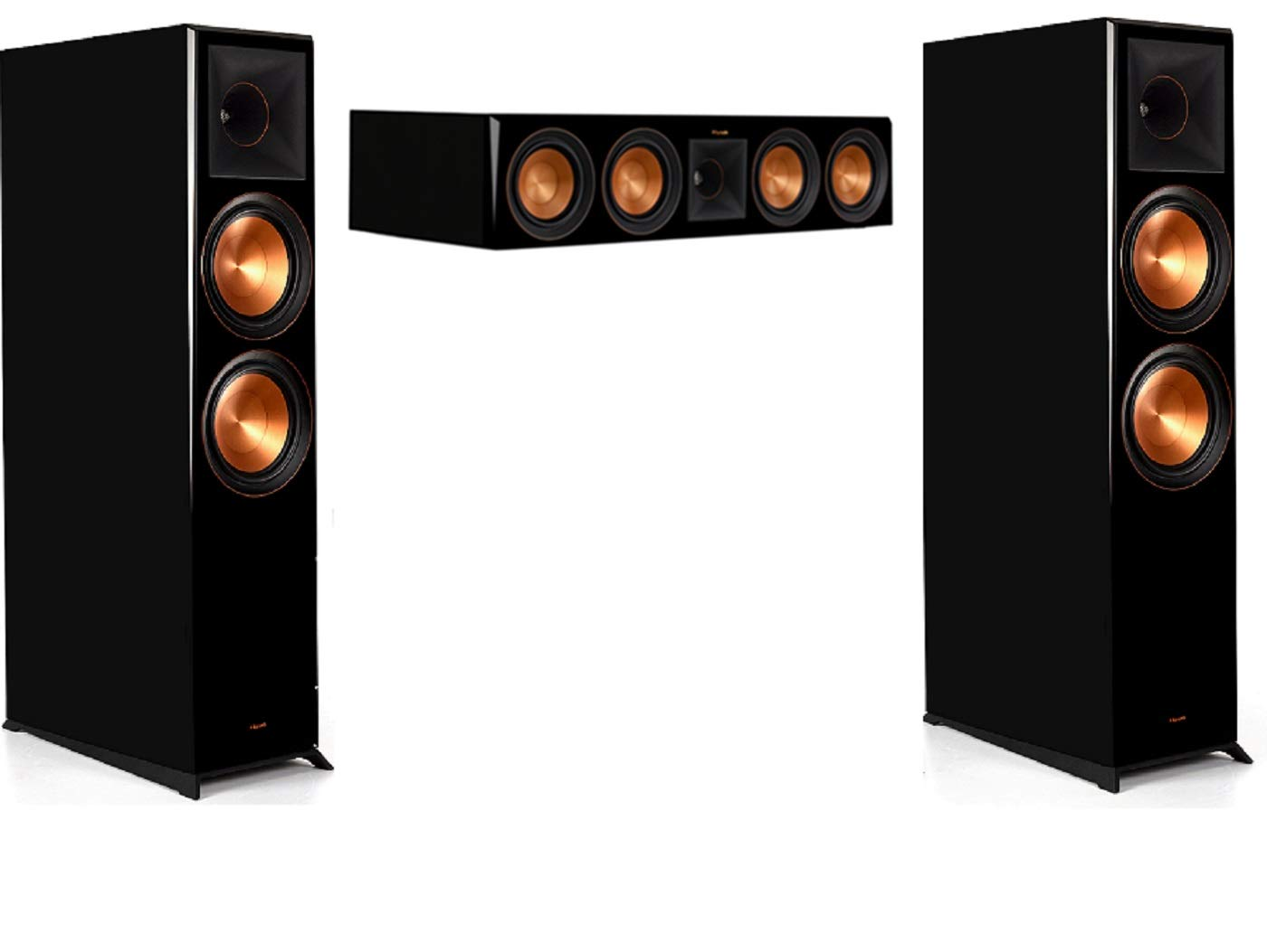 Klipsch RP-8060FA 3.0 Home Theater System Bundle with RP-504C Center Channel - Piano Black